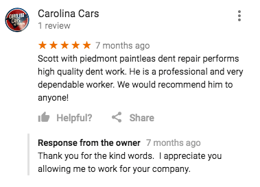 paintless dent removal charlotte nc